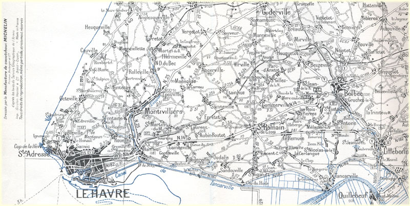Detail carte 52 edition previsoire 1944
