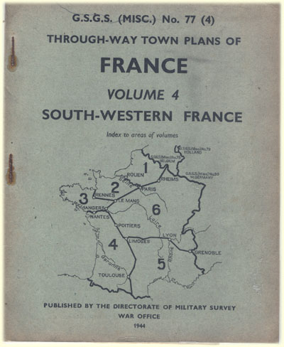book military survey war office WW2