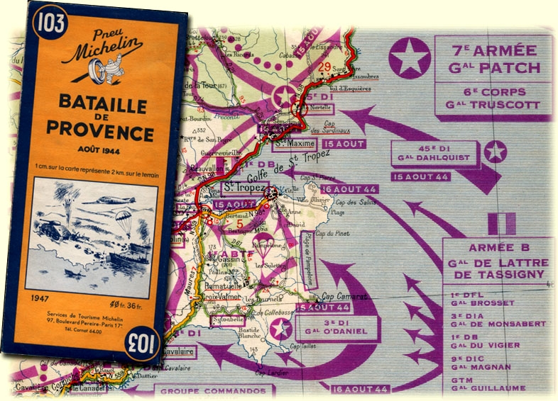 michelin map battle of provence