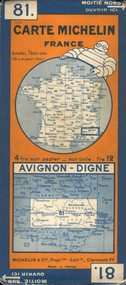 photo carte Michelin 1926 à 1930