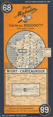 photo carte Michelin 1935 à 1953