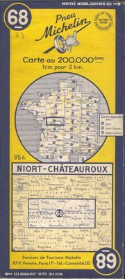 photo carte Michelin 1951 à 1954