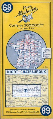 photo carte Michelin 1958 à 193661