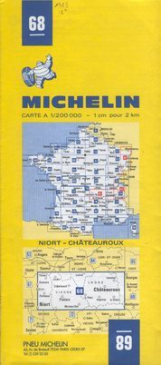 photo carte Michelin 1971 à 1985