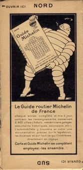 Michelin map back cover 1923