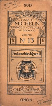 Michelin map bach over 1911