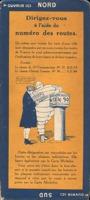 Michelin map back cover 1925